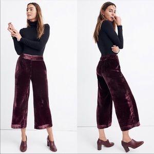 Madewell Velvet Huston Pull On Crop Pants
